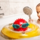 girl in bath with water heated by a tankless water heater