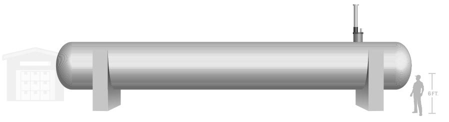 30,000 gal propane tank